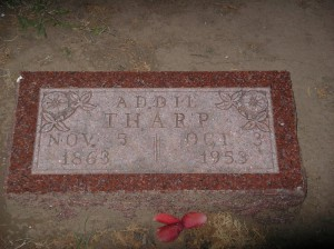 Tharp, Addie Tombstone