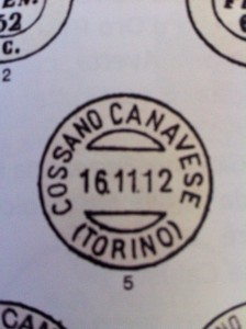 Cossano Post Stamp