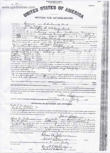 Nagy, John Naturalization Petition