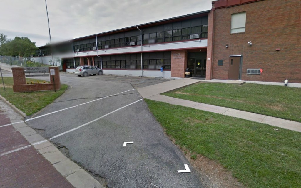 Valley Falls Grade School as seen on Google Street View.