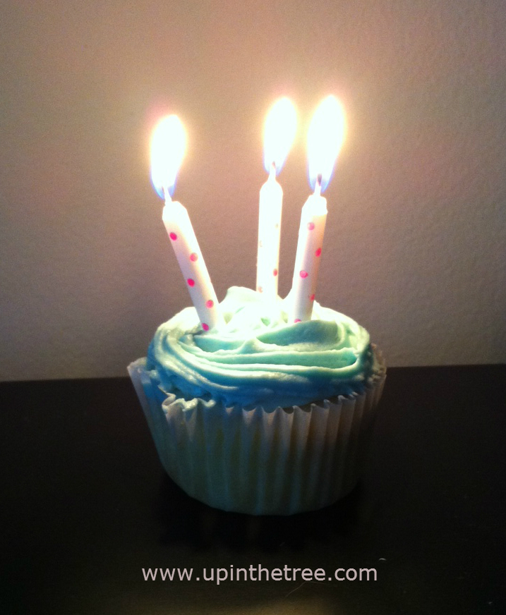 3 birthday candles