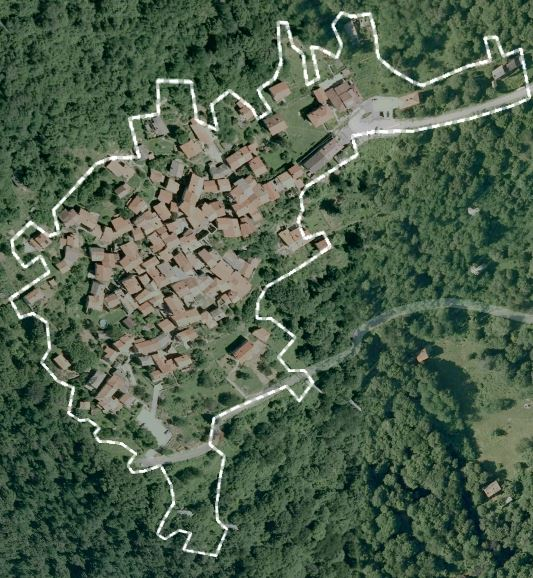Google Earth view of Carcente, Italy