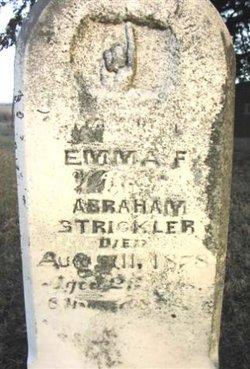 Emma F. Dovel Strickler Gravestone