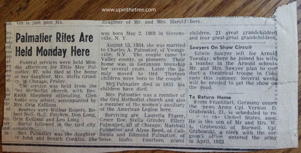 Etta Palmatier obituary