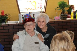 Raymond and Roberta Mitchell at Raymond's 92nd birthday.